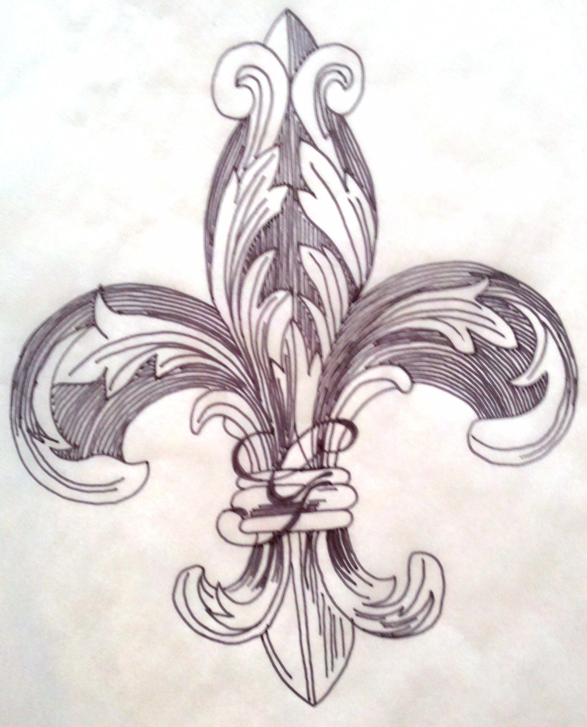Tattoo fleur de lys galerie tatouage - Signification fleur de lys ...