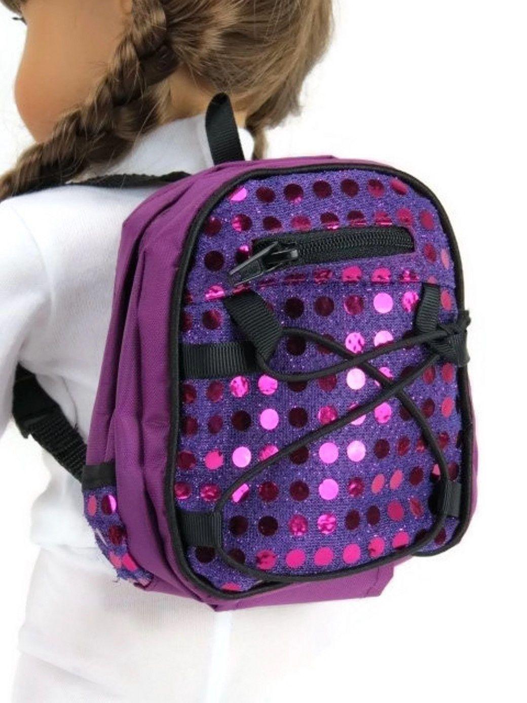American Girl Purple Backpack- Fenix Toulouse Handball 265076f9f9040