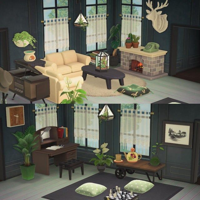 Love my new living room!! - AnimalCrossing in 2020 ... on Animal Crossing New Horizons Living Room Ideas  id=97736