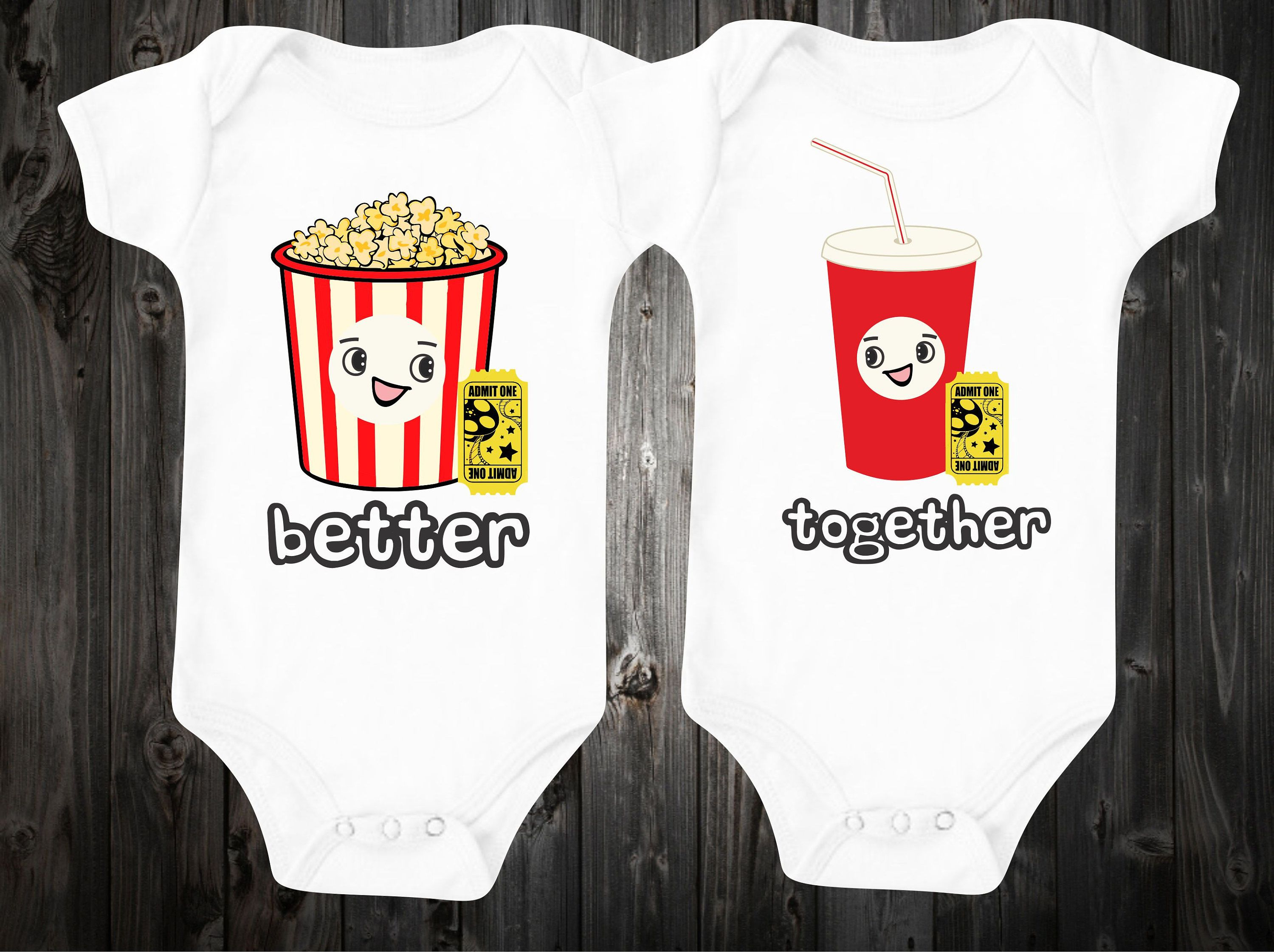 Better To her Movie Theme Baby esies Twin Outfits Funny