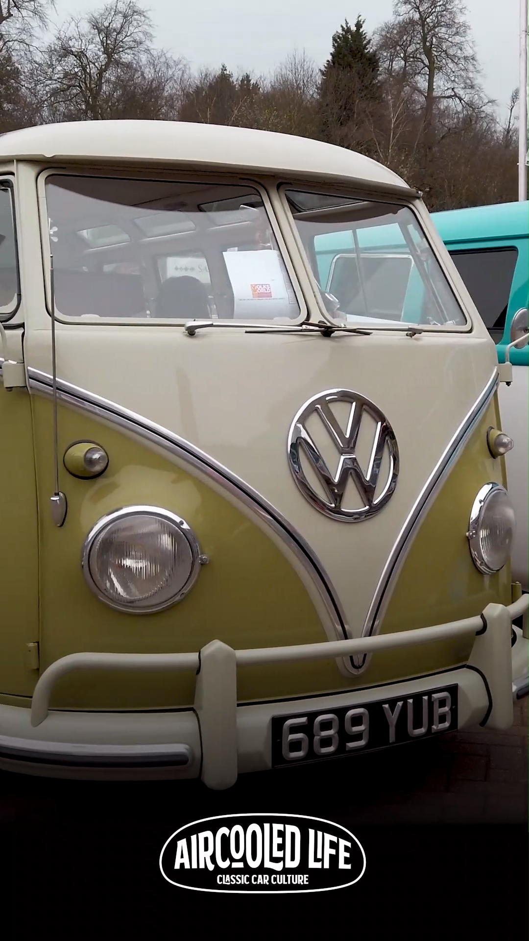 Split Screen Van Club line up at Volksworld SHow 2019