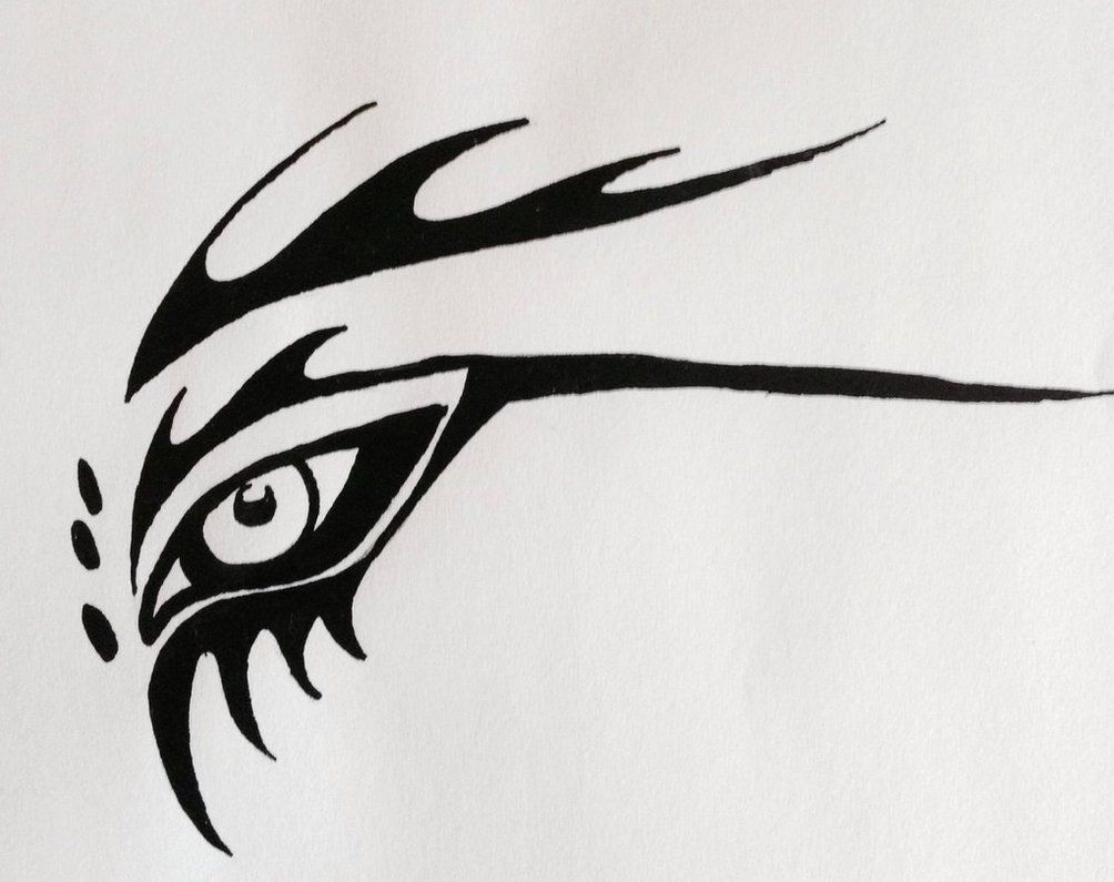The Gallery For Gt Tribal Dragon Eye Tribal Drawings Dragon Eye 3d Tattoo