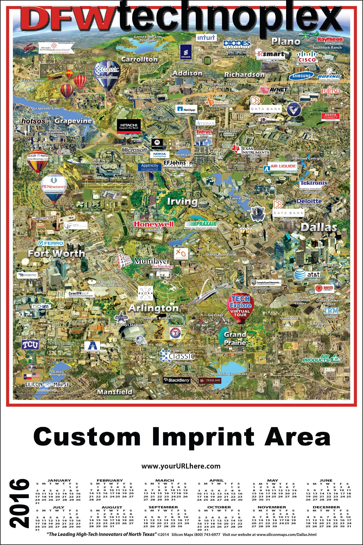 Dfw Technoplex Map Dallas Ft Worth High Tech Grand Prairie