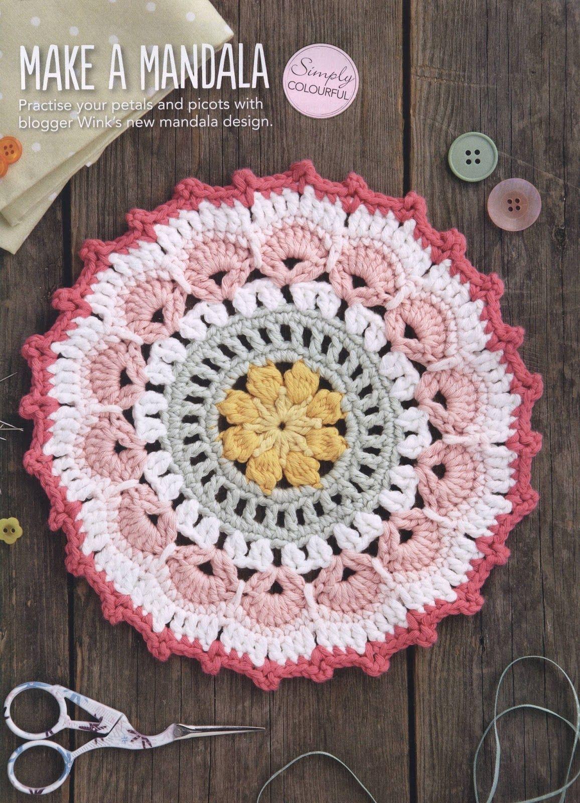 Petals And Picot Mandala Mandalas Crochet Crochet Mandala En