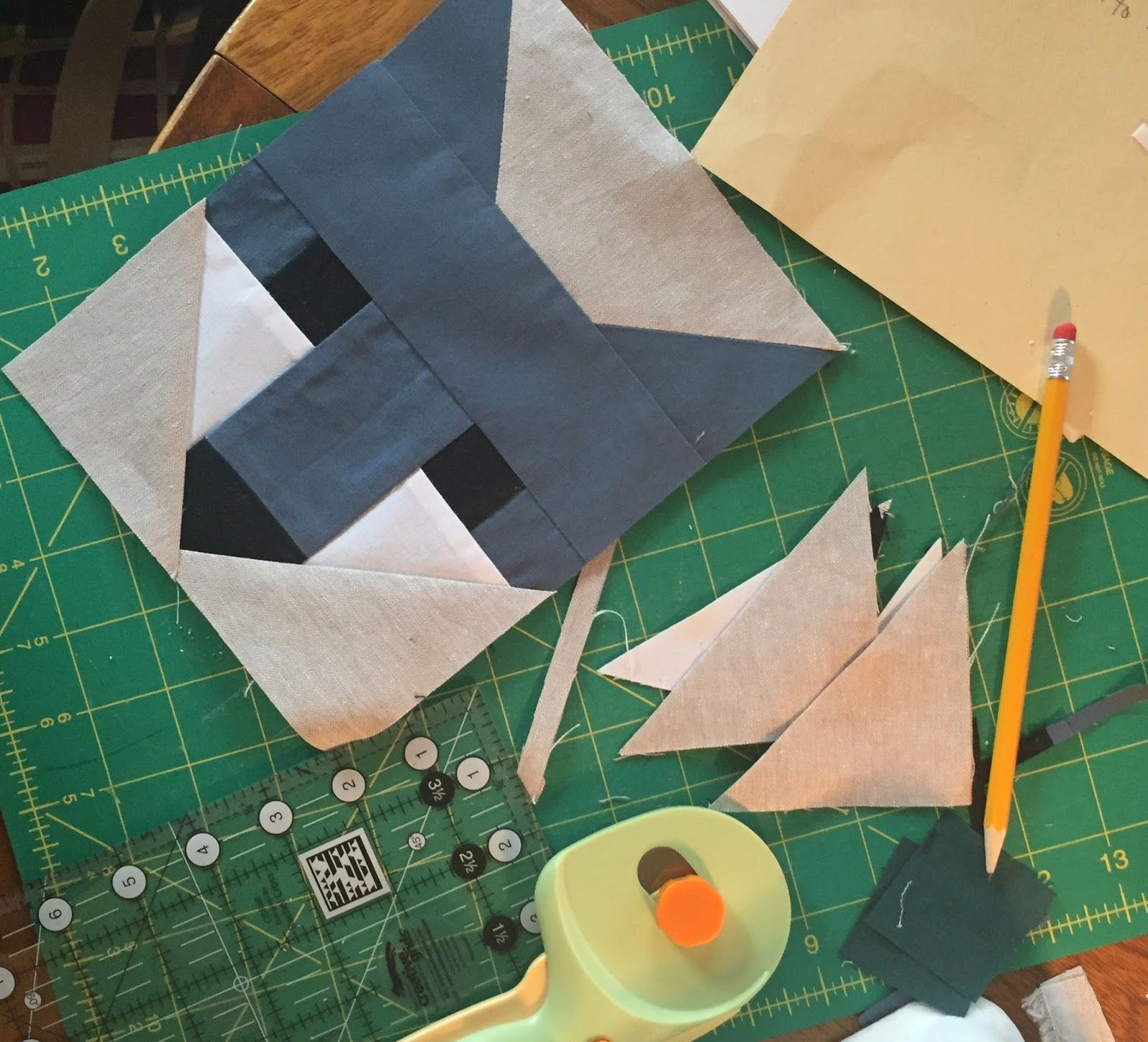 The scheme of patchwork sewing will help to make exclusive things