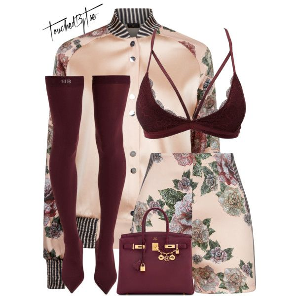 Untitled #560 by iamtaecarter on Polyvore featuring La Perla, Charlotte Russe, Balenciaga and Hermès