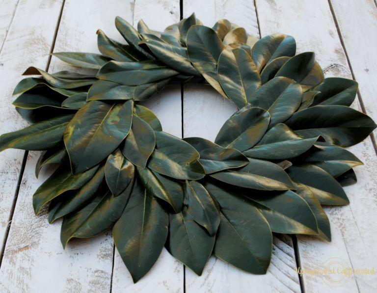 Photo of DIY Magnolia Wreath – Upright and Caffeinated