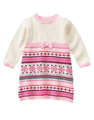 Fair Isle Flurry sweater dress 2T.It is pretty much sold out.I ...