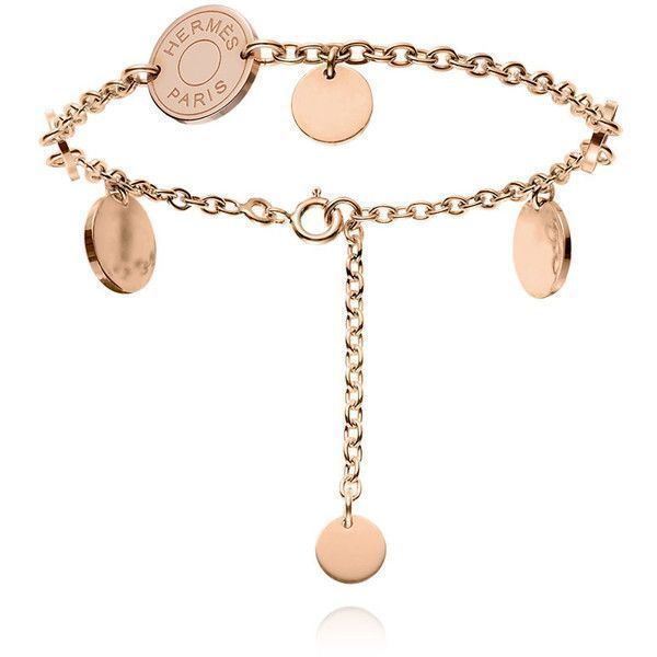 Herms Confettis Rose Gold Bracelet 2950 liked on Polyvore