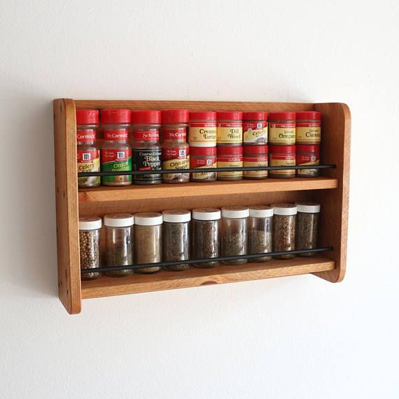 Wood Spice Rack For Wall Handmade Wall Spice Rack Wooden Spice Rack Kitchen Storage  Home