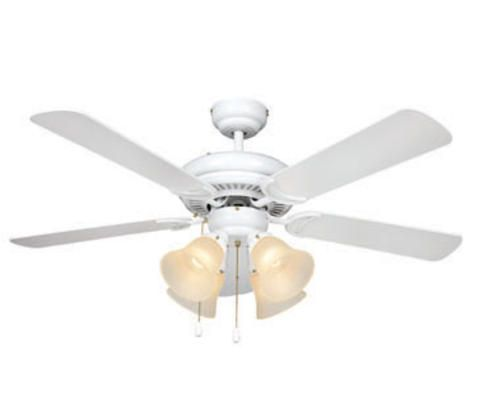 Turn Of Century Minerva 44in White Ceiling Fan At Menards One