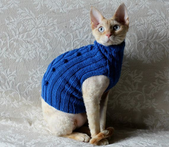 Handmade Cat Small Dog Jumper Sweater Coat Wool By: Handmade Cat Small Dog Jumper Sweater Dress Wear By