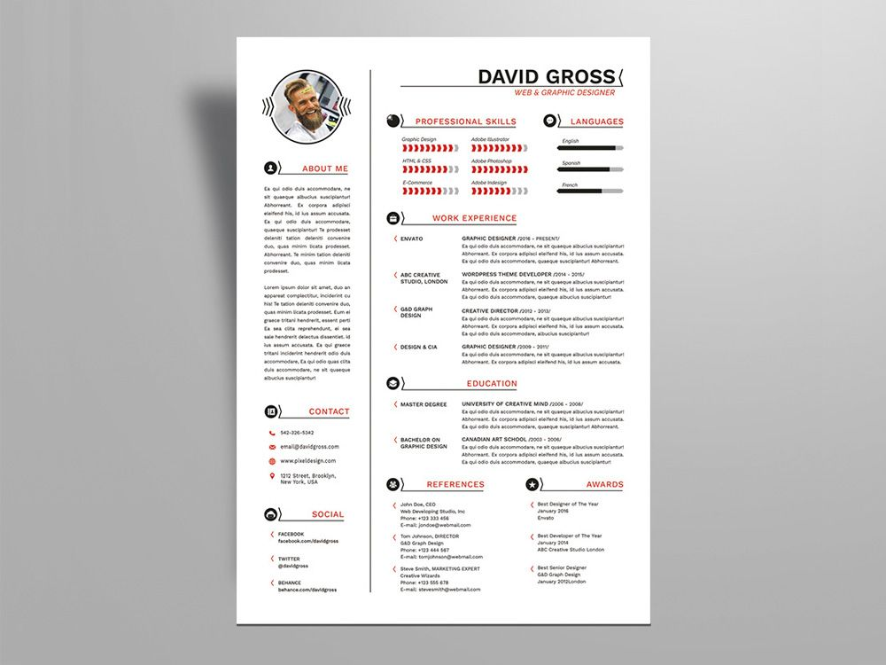 Free Hipster Style Resume Template For Job Seeker Indesign Resume Template Resume Design Template Free Resume Template Examples
