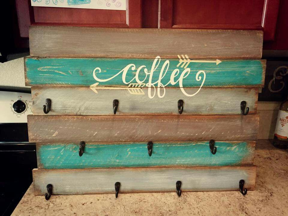 Diy coffee mug rack cosmecol for Mug racks ideas