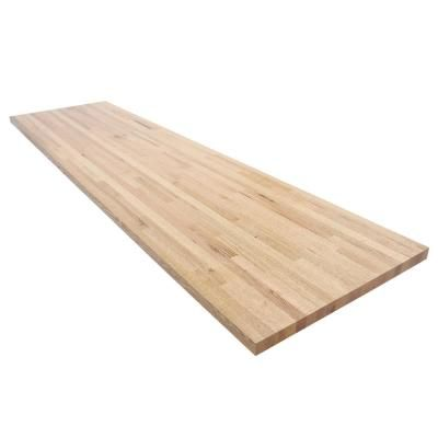 Swaner Hardwood 12 Ft L X 2 Ft 1 In D X 1 5 In T Butcher Block Countertop In Finished Oak Products In 2019 Butcher Block Countertops Butcher Block Cou