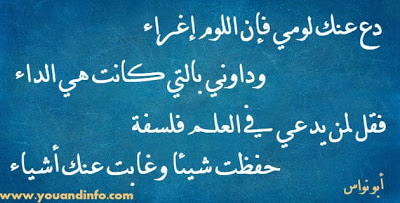 دع عنك لومي فإن اللوم إغراء أبو نواس Arabic Calligraphy