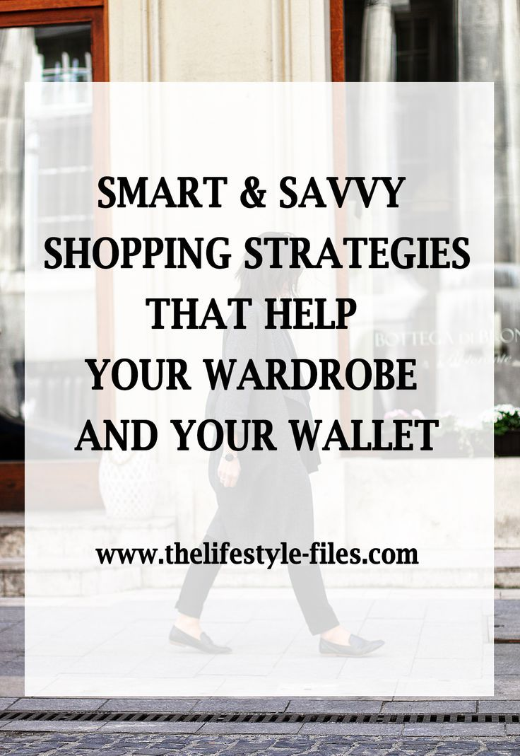 Savvy and smart shopping strategies