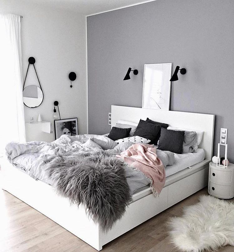 White Malm bed with 4 storage boxes under bed | Bed ideas ...