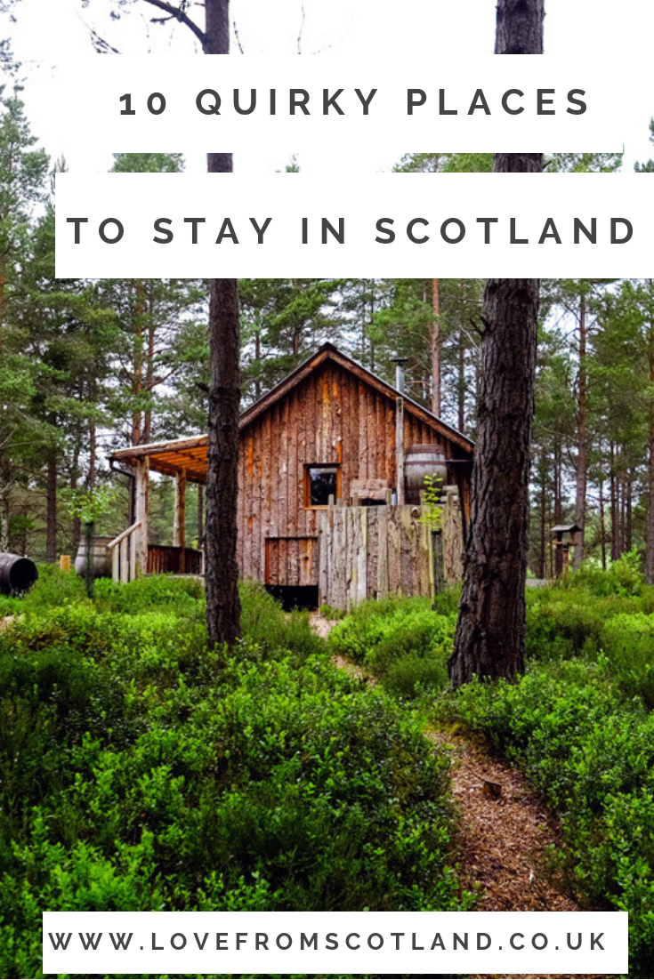Looking for fab places to stay in Scotland? From a family farm stay to a quirky tree lodge, here are the best places to stay in Scotland. #travelscotland