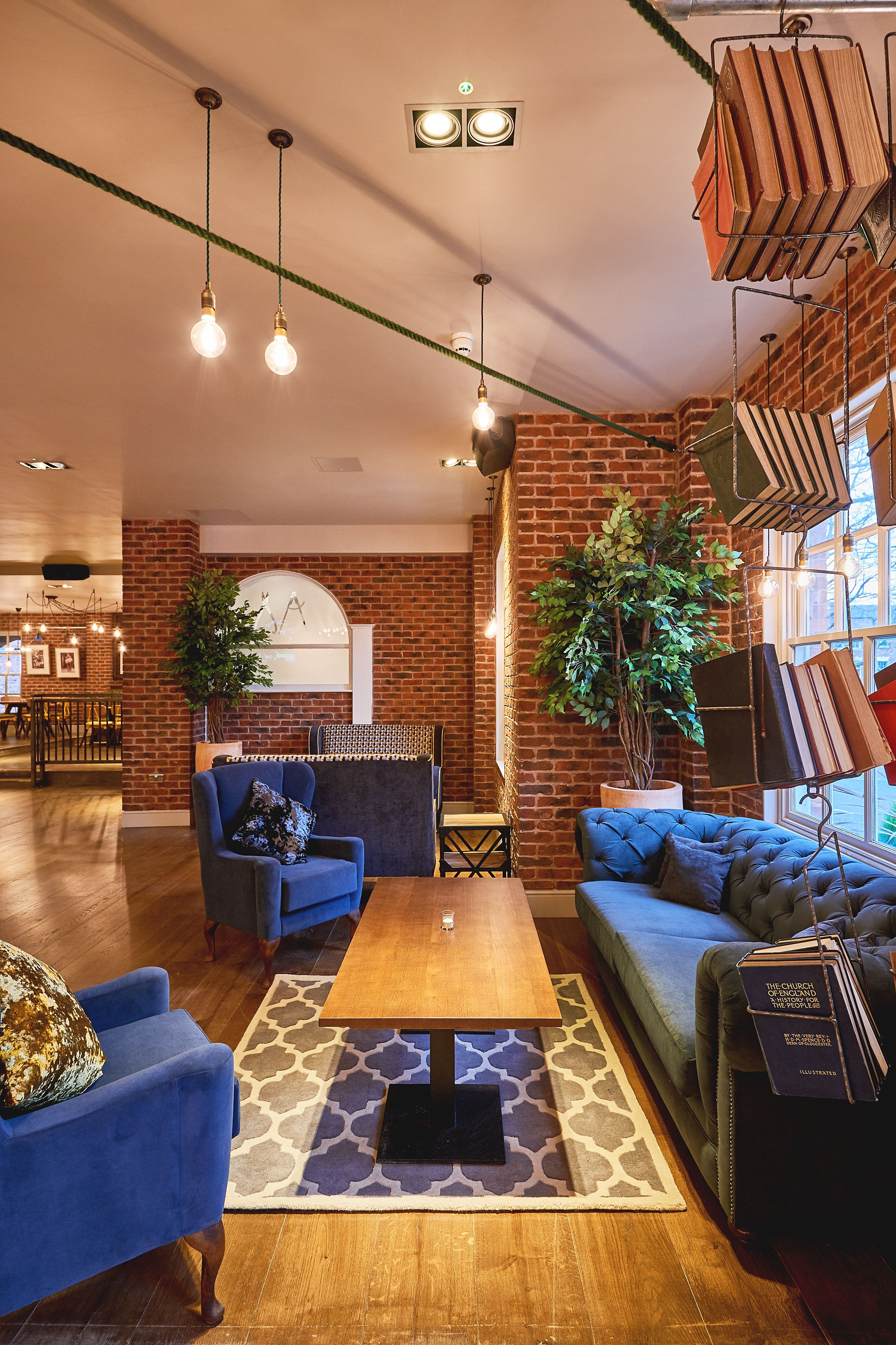 Quirky Industrial And Rustic Hotel Lobby Lounge Design