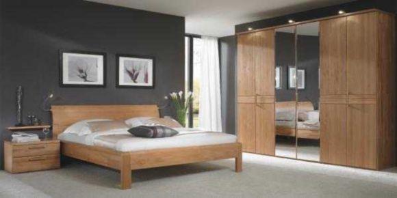 Elegantes Schlafzimmer in Erle massiv bestehend aus einem 6-türigen - schlafzimmer set 180x200