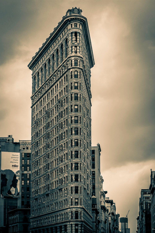 NYC Flatiron Skyscraper Manhattan Architecture Steel