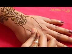 Simple and easy indo arabic henna mehndi designs for back hands youtube also rh in pinterest