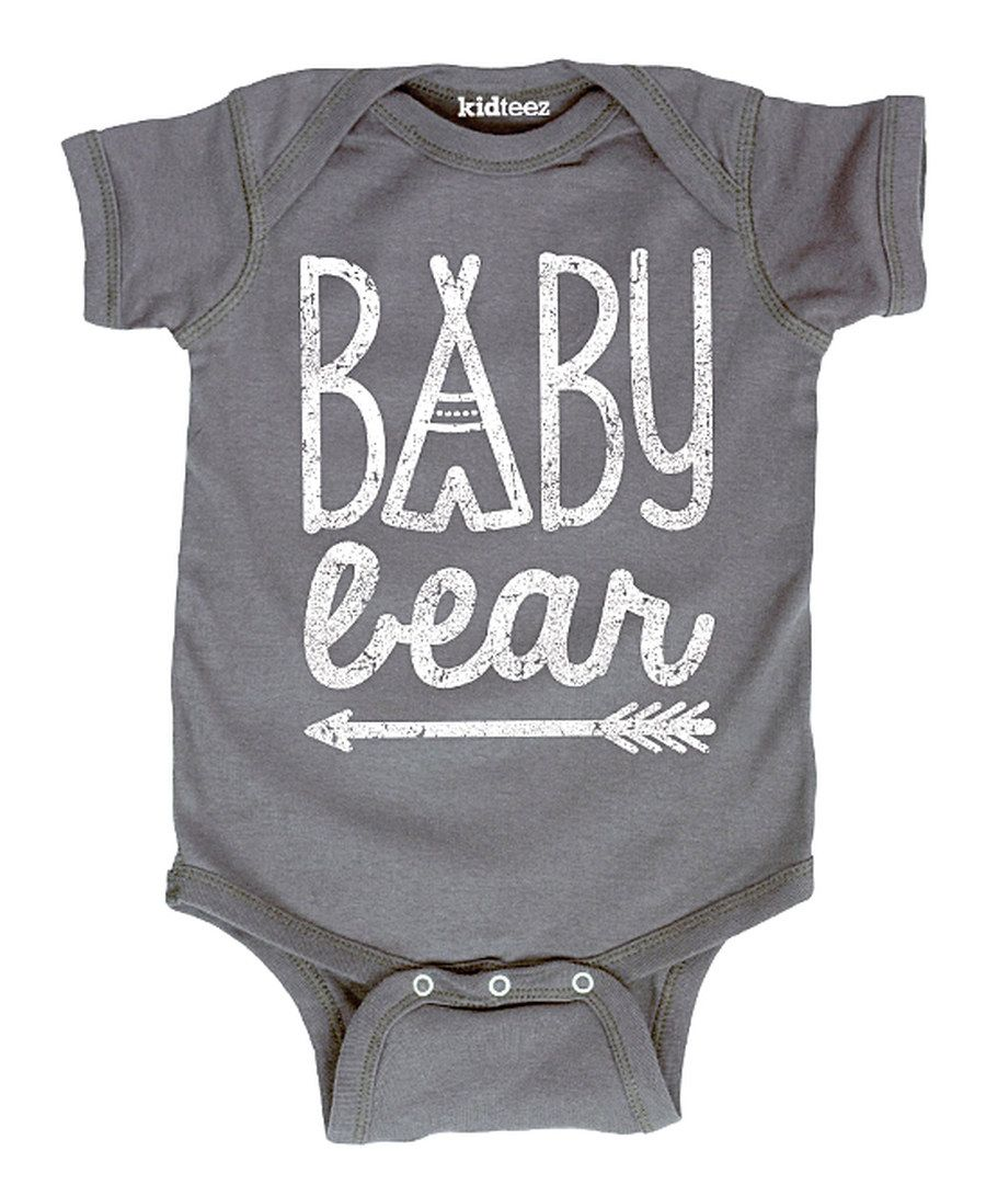 Look at this Charcoal 'Baby Bear' Bodysuit - Infant on #zulily today!