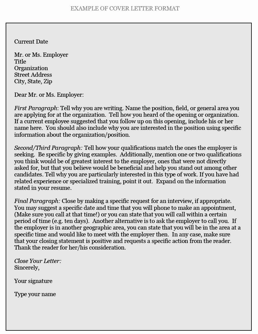 How to Write Employment Letter New How to Write Cover