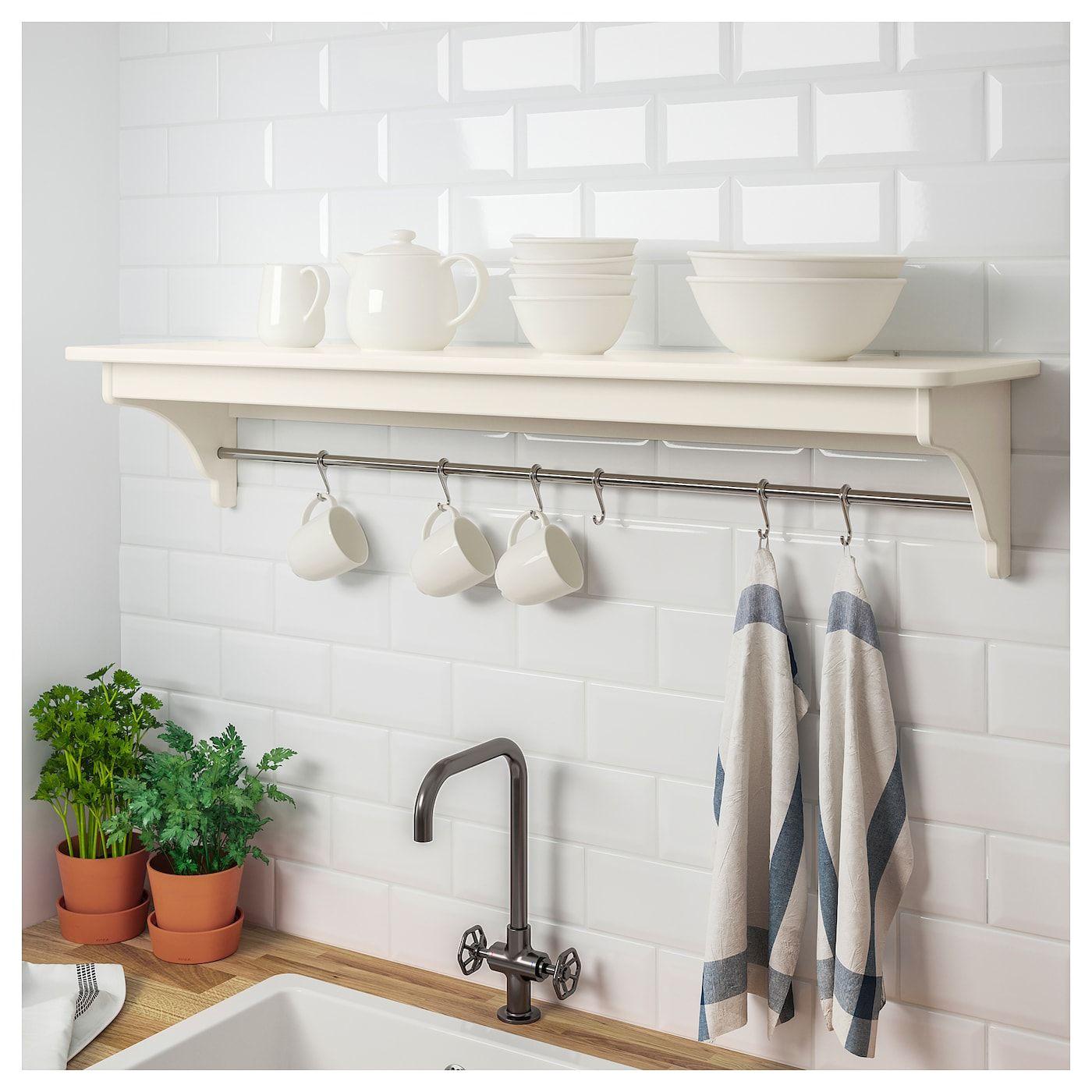 "TORNVIKEN Wall shelf offwhite 47 1/4 "" Kitchen wall"