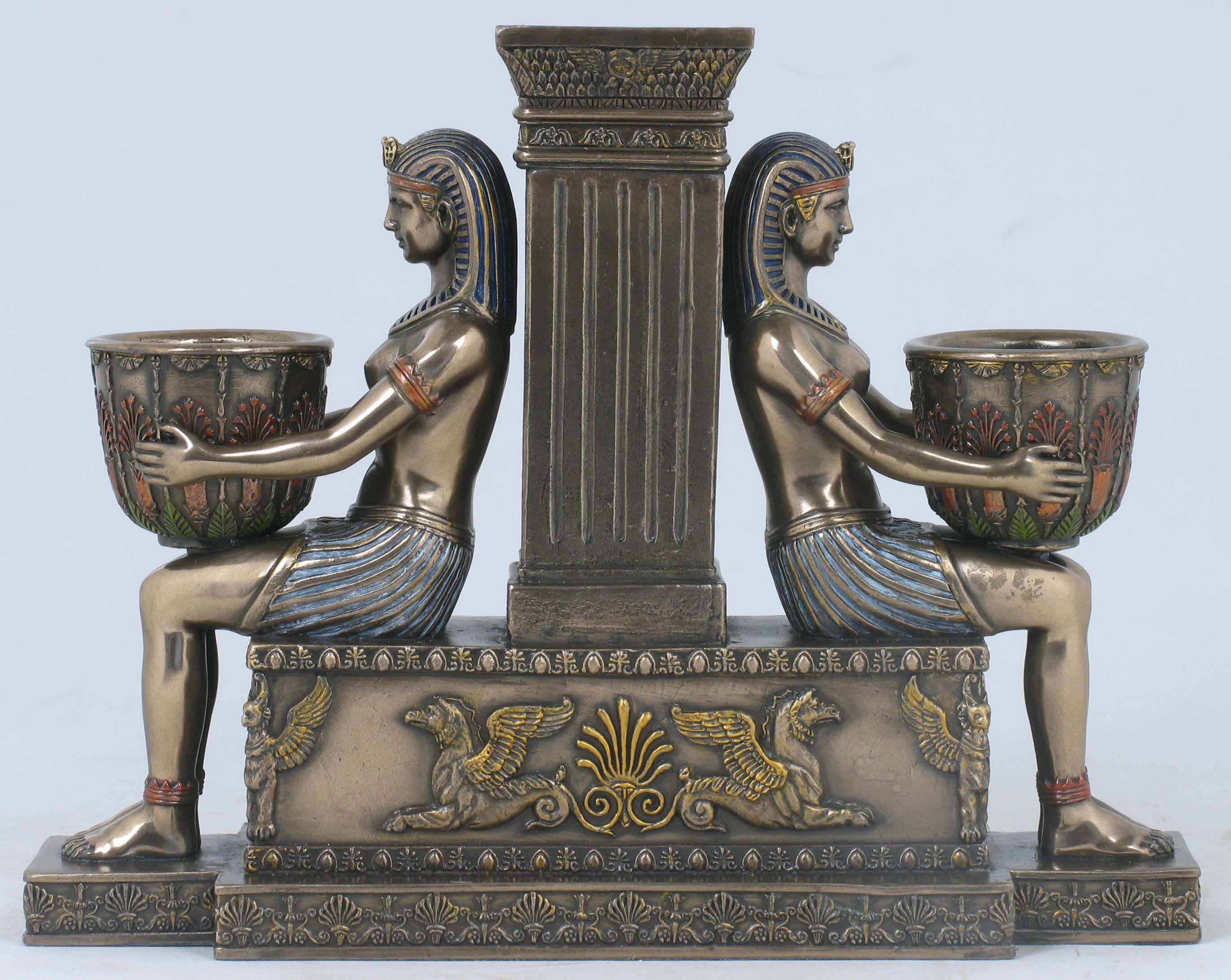 Napolionic Egyptian Candle Holder