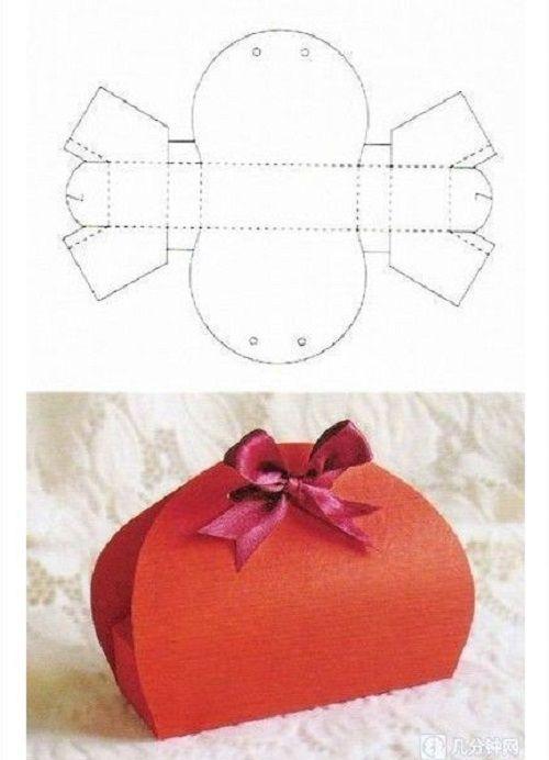 Top 8 modelli diversi per creare scatoline di cartoncino per confetti YD07