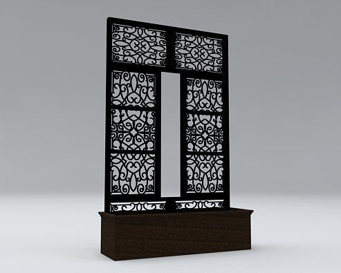 Event Options - Wrought Iron Panels, $220.00 (http://www.event-options.com/wrought-iron-panels/)