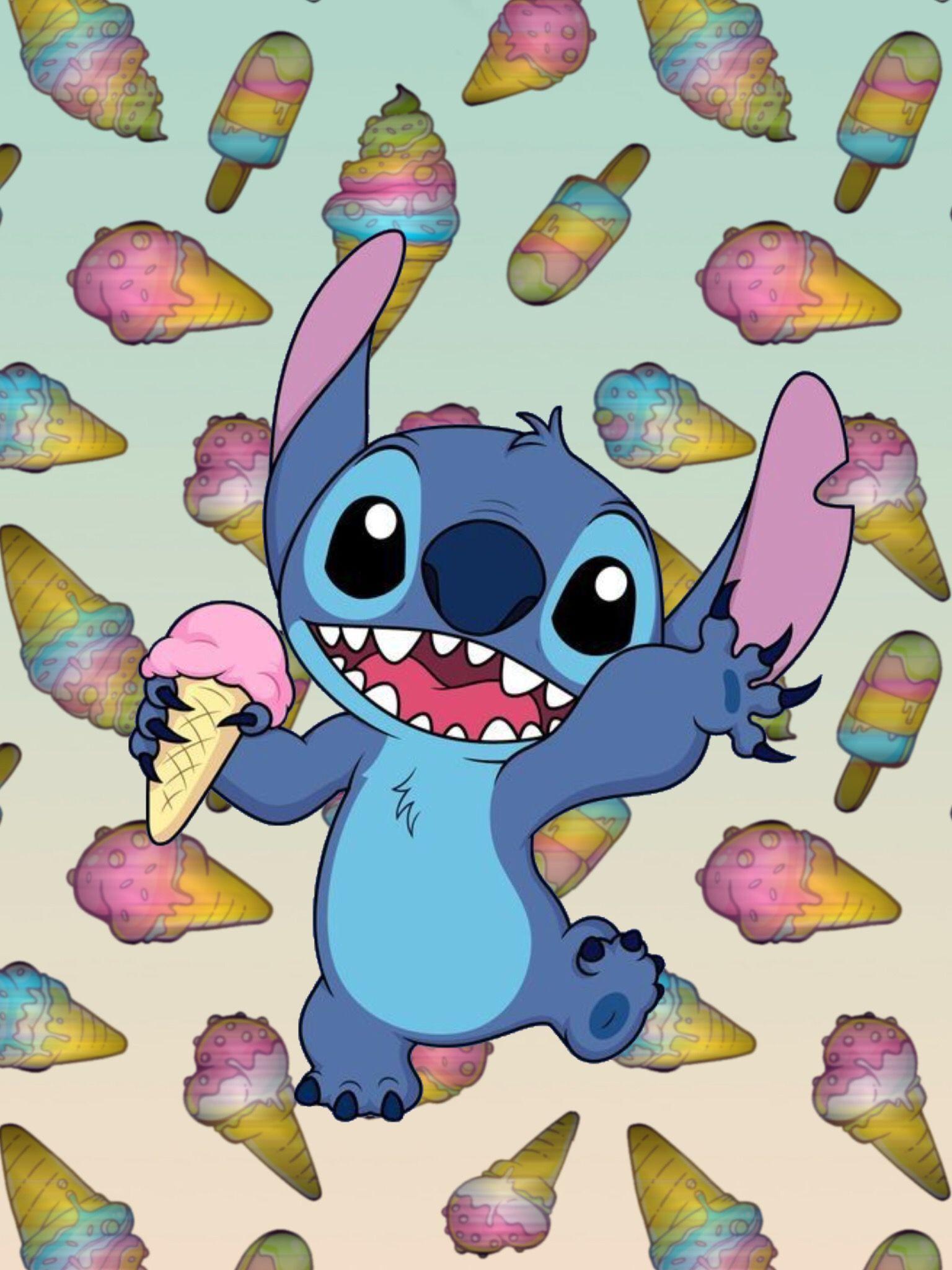 Love You Stich Cartoon Wallpaper Cute Stitch Disney Wallpaper