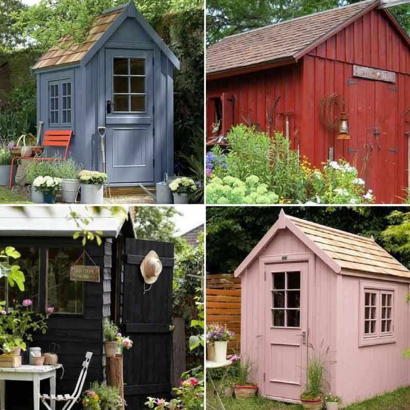 abri de jardin 6 id es d co pour le personnaliser et l. Black Bedroom Furniture Sets. Home Design Ideas
