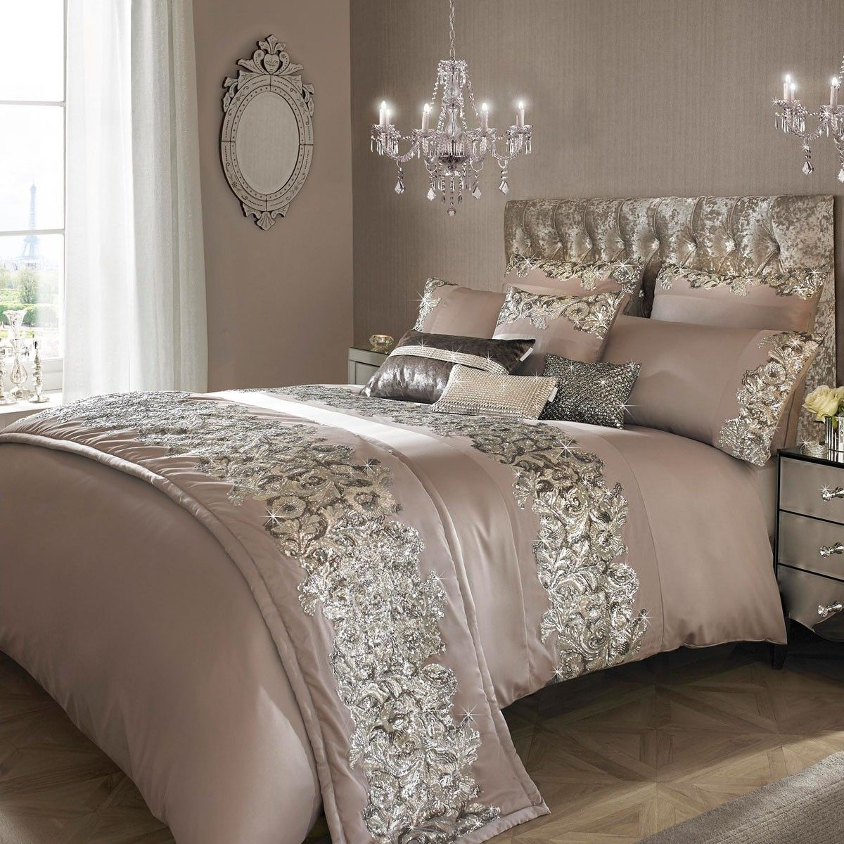 So Elegant Love A Sitting Area In A Master Bedroom By: Kylie Minogue Petra Nude Bedding Collection