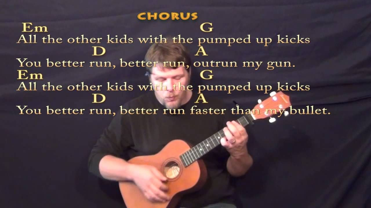 Pumped Up Kicks Baritone Ukulele Cover Lesson With Chords Lyrics