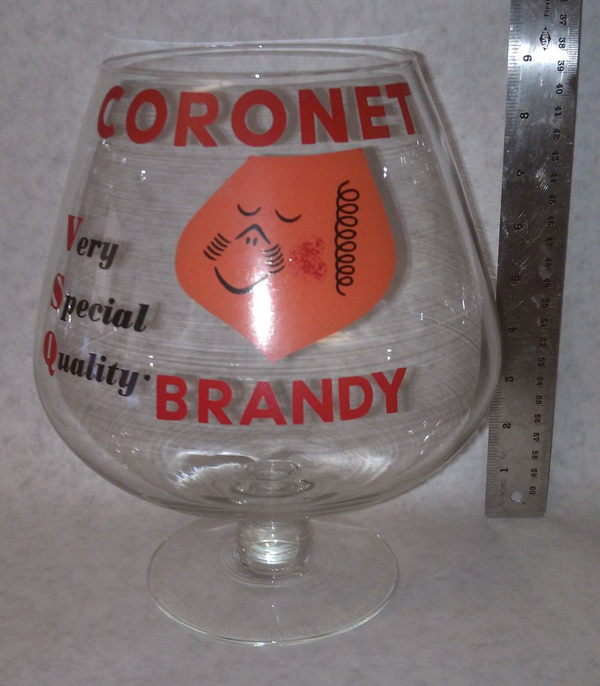 Coronet Very Special Quality Brandy Snifter Holds Extra Large Volume 1l Vintage Liquor Glass Stemless Wine Glass Ebay