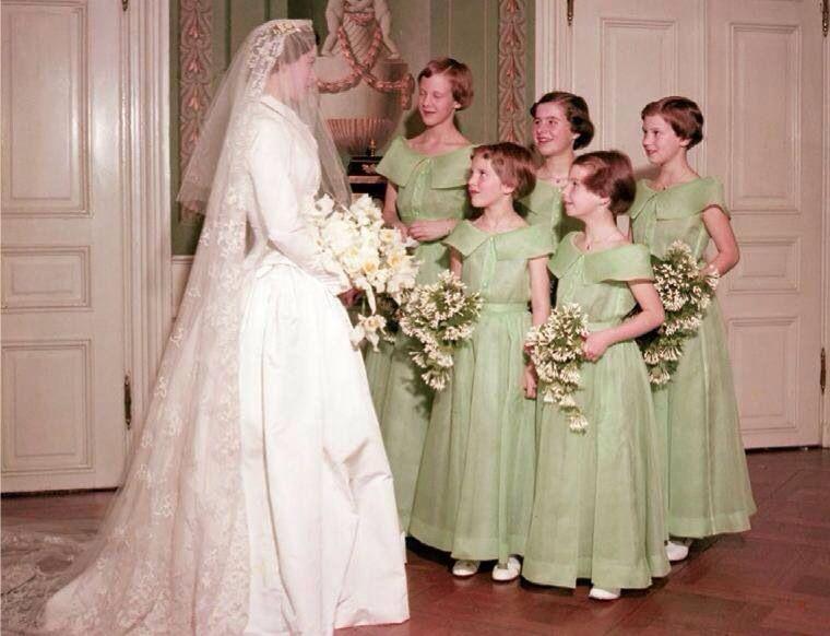Wedding Dress For 40 Year Old Brides: Princesses Margrethe, Benedikte And Anne-Marie Of Denmark