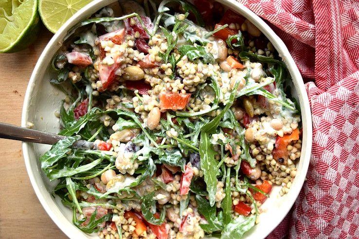 Рецепт с фото. Оригинальный салат с гречкой, фасолью и ...