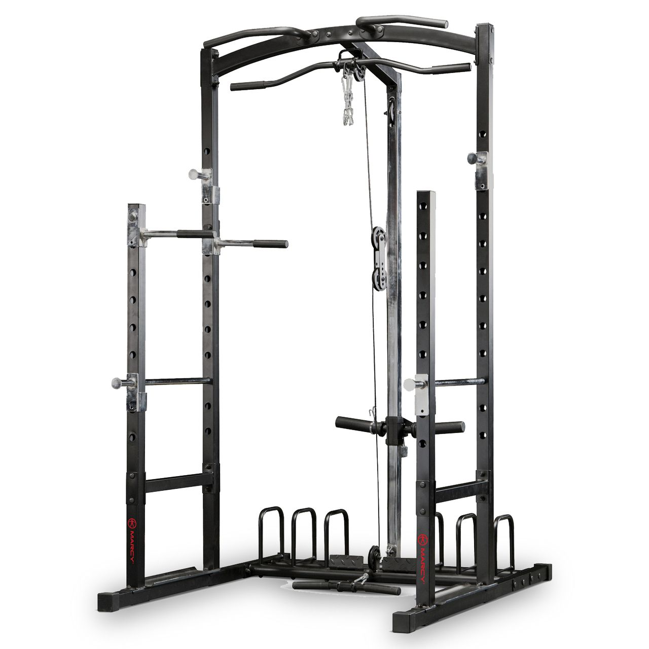 Marcy Eclipse Rs5000 Power Rack Gym With High Amp Low Pulley