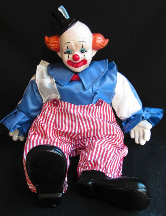 Vintage Bozo the Clown Music Box Doll plays by ...