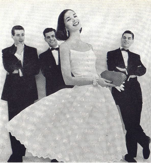party dress Vogue, May 1955