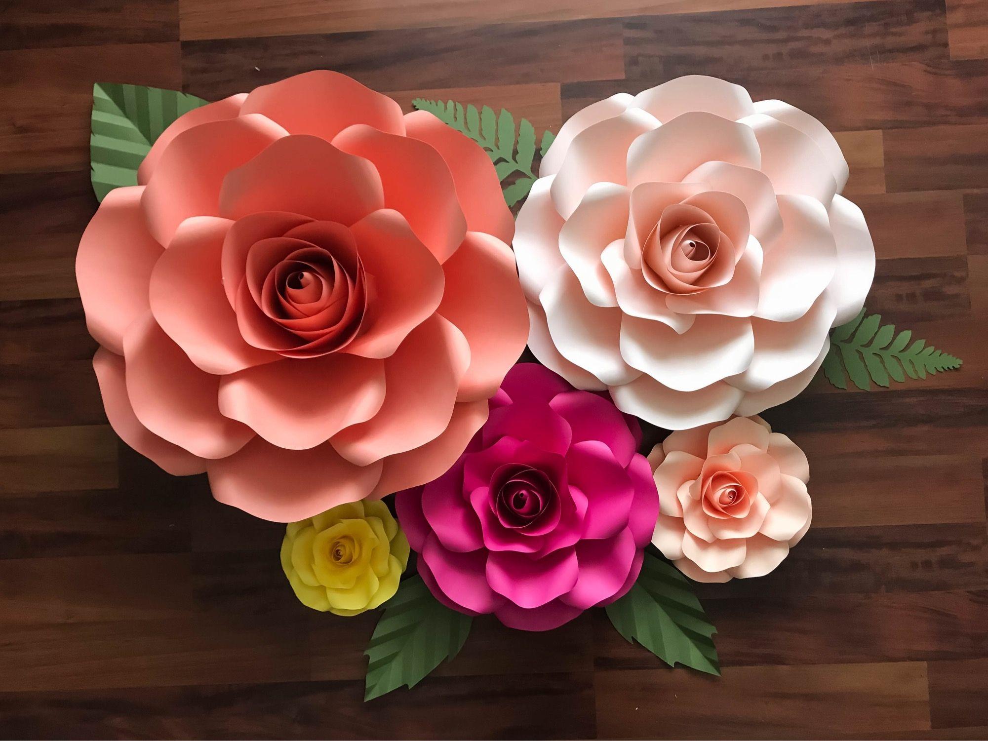Thecraftysag Svg Extra Large Rose Paper Flower Template Diy