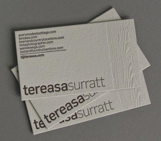 Business card ideas and inspiration 10 pinterest wood grain simple and modern woodgrain business cards by tereasa surratt via francesco mugnai colourmoves