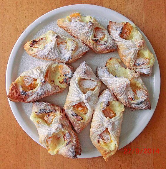 Schnelle Blechkuchen Rezepte Mit Bild: Schnelle Blätterteig - Vanillepuddingteilchen