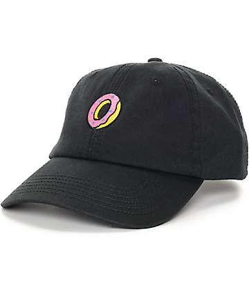 Odd Future Embroidered Donut Black Polo Strapback Hat  72da5c337119