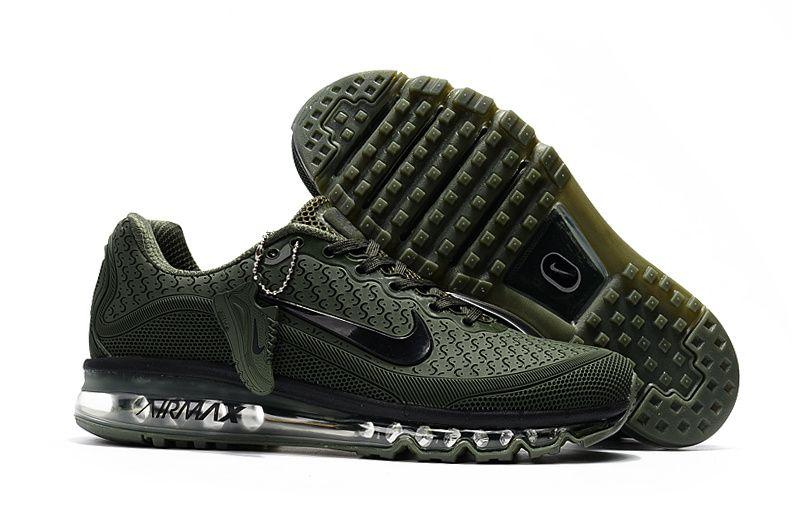 best service 9f68a 02fb6 Nike Air Max 2017.8 Army Green Men KPU