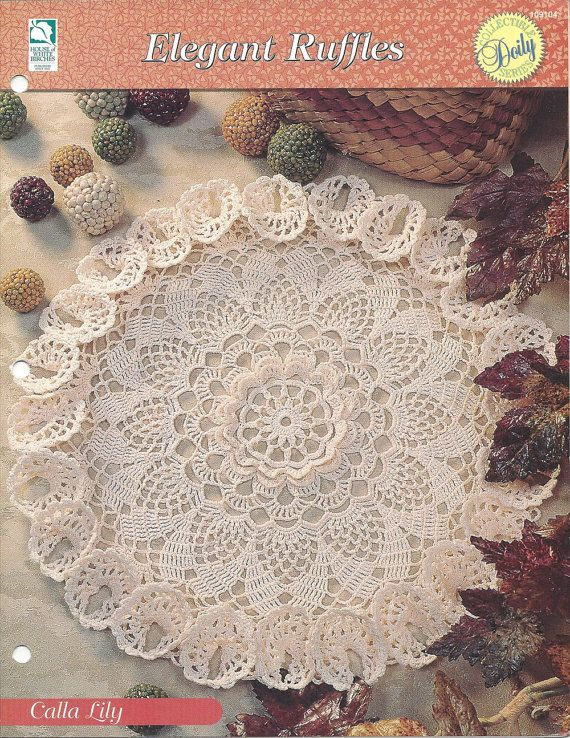 Lily Flower Lace Doily Crochet Pattern - Calla Lily - House of White ...
