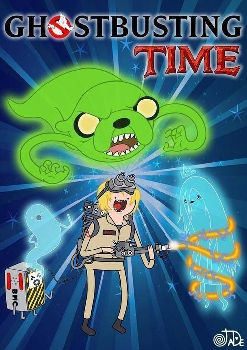Adventure Time and Ghost Busters mash up! Poor Ghost Princess. :( lol